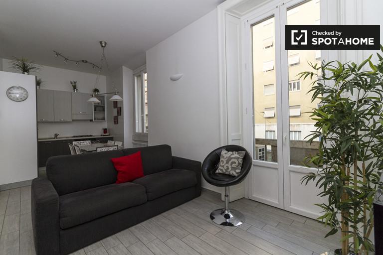 Apartamento de 2 dormitorios en alquiler en Porta Venezia, Milán