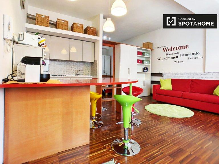 Funky apartamento de 1 dormitorio en alquiler en Bovisa, Milán
