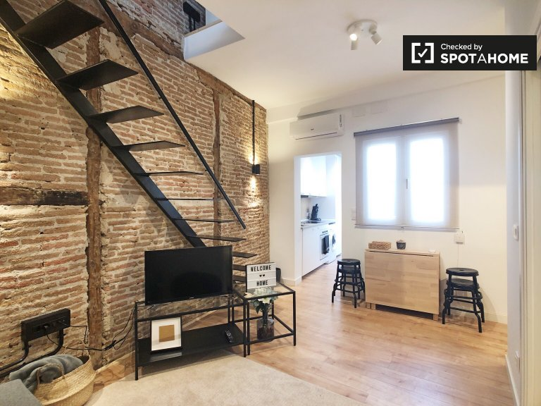 Hip 2-bedroom apartment for rent in Malasaña, Madrid