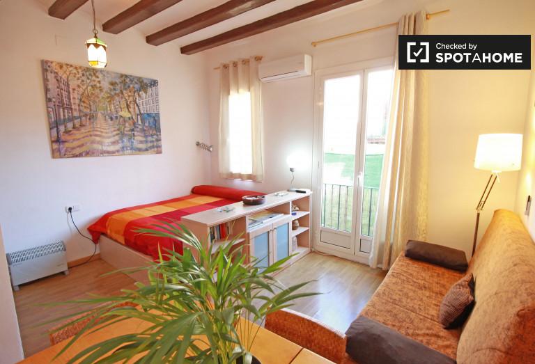 Wunderschöne Studio-Wohnung zur Miete in Raval, Barcelona